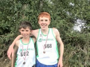 Cross Country 2014 Gold Medal Winner. Chris with Evan Byrne.