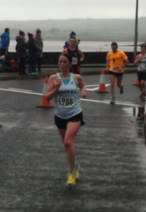 Marjorie at the John Treacy 10 Mile in Dungarvan, Jan 2016