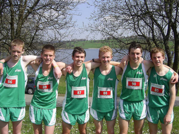 Dave, second from left, with his team mates at the World Schools Competition