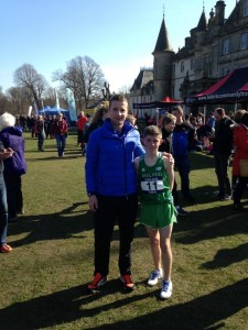 With Chris O'Reilly at the International Schools XC, March 2016