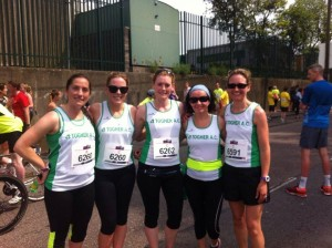 As a member of a relay team for Togher AC in the Cork City Marathon, June 2016