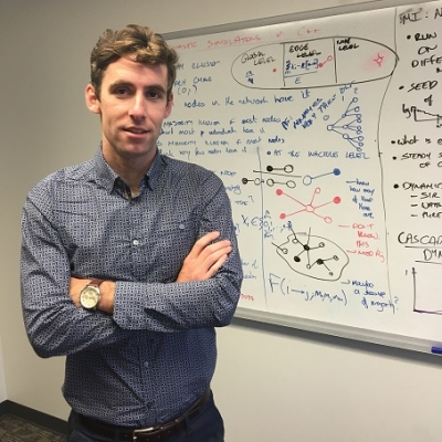 Peter Fennell recently awarded James S McDonnell Foundation Postdoctoral Fellowship in Studying Complex Systems