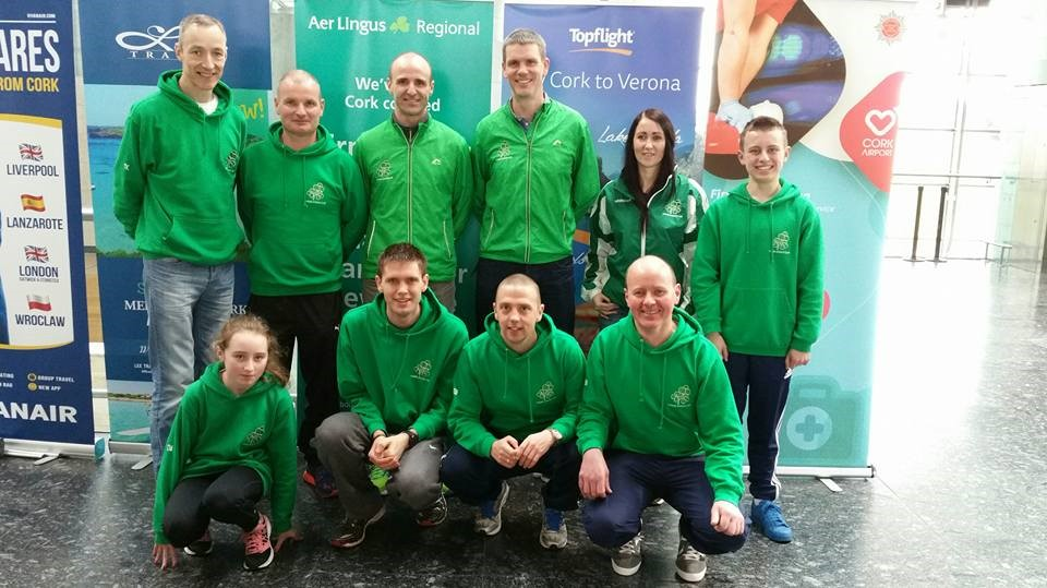Aidan & Togher AC club members on their way to Cardiff for the World HM Championships