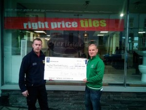 Right Price Tiles sponsoring the ambulance on the day of the road race