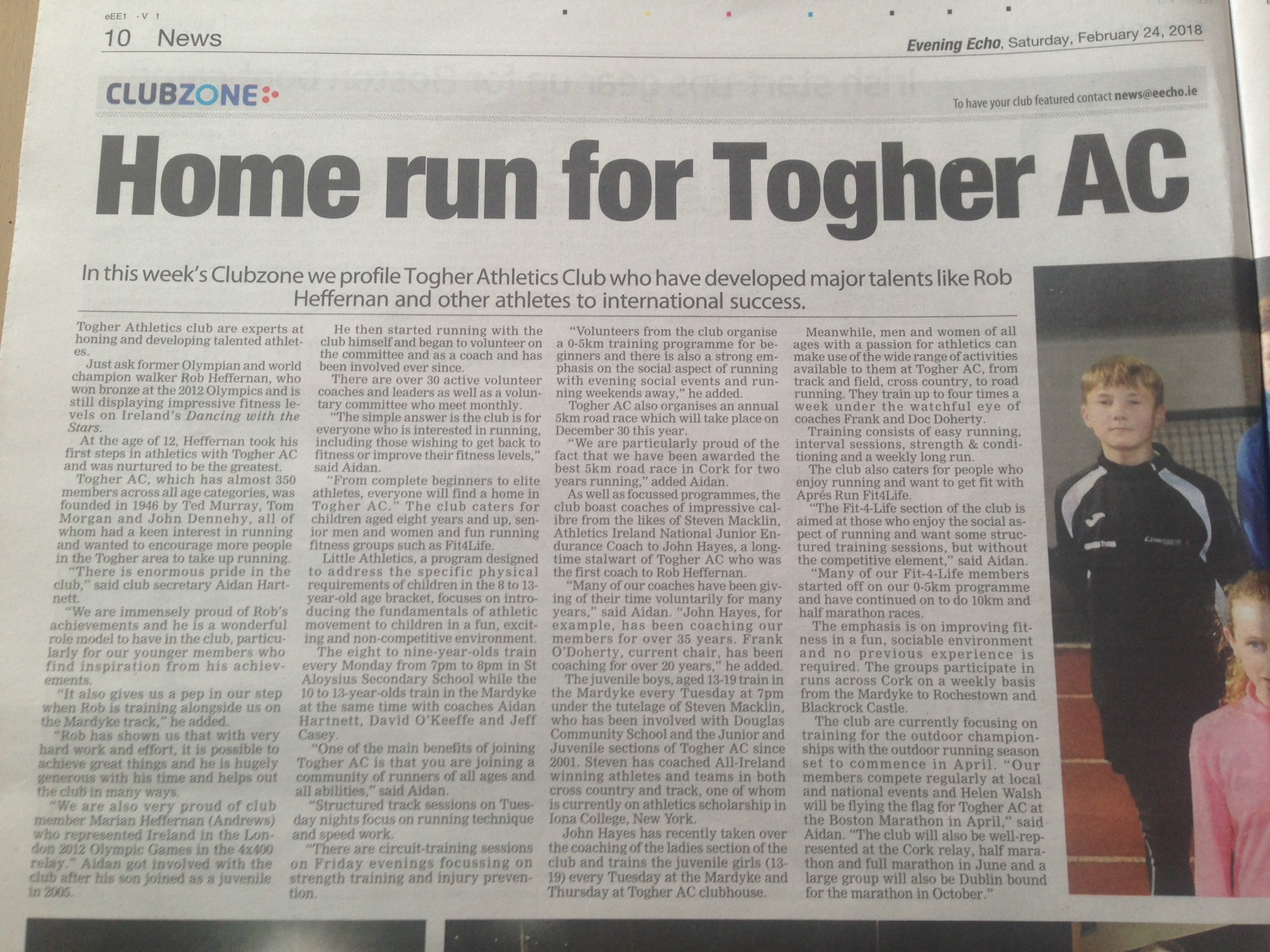 Togher AC hits the headlines